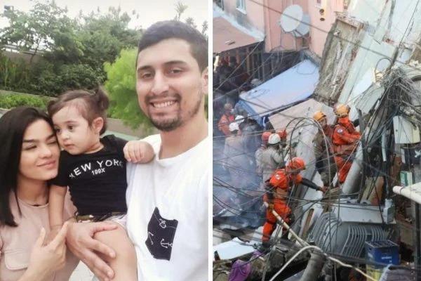 Pai e filha morrem após prédio desabar em Rio das Pedras (RJ)