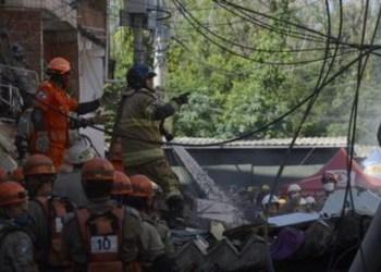 Prefeitura do Rio demole terraço de prédio afetado por desabamento