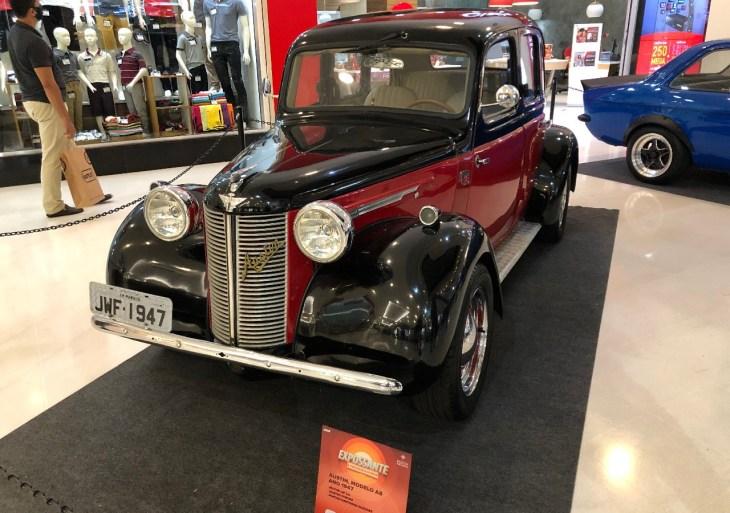 Exposição de carros antigos encerra neste domingo, no Shopping Ponta Negra