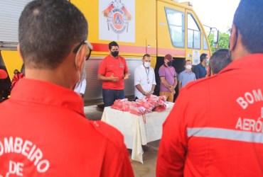 Bi Garcia anuncia melhorias na seção contra incêndio do aeroporto Júlio Belém