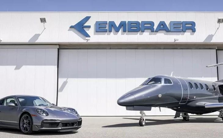 Embraer entrega primeiro jato de edição criada em parceria com a Porsche