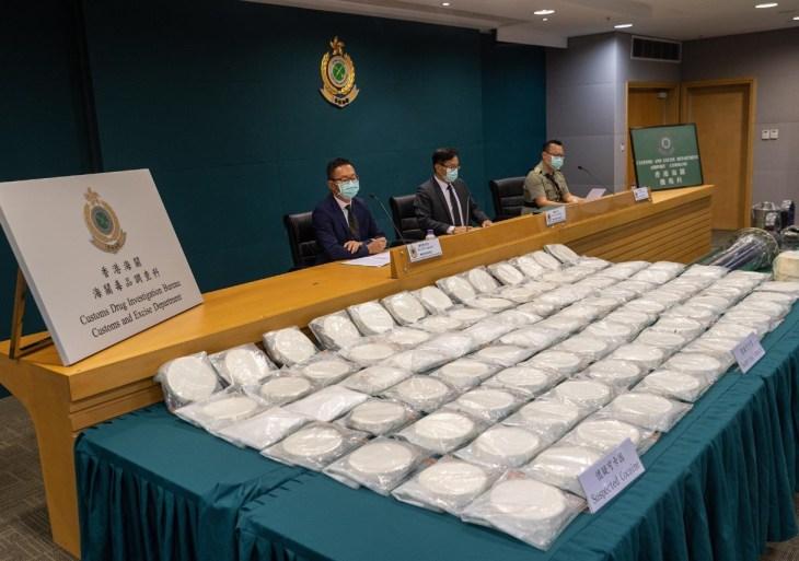 Hong Kong apreende carga recorde de cocaína do Brasil