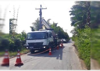 Ramal Claudio Mesquita da BR-174 recebe novos postes