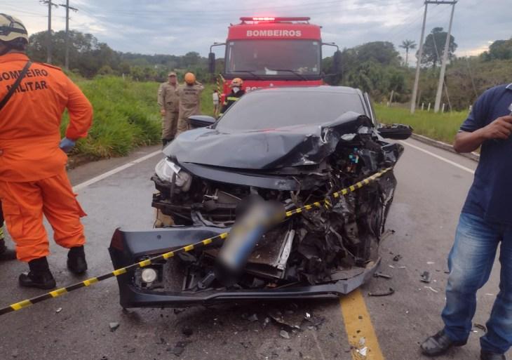 Família sofre acidente de trânsito a caminho de retiro espiritual na BR-174 em Manaus