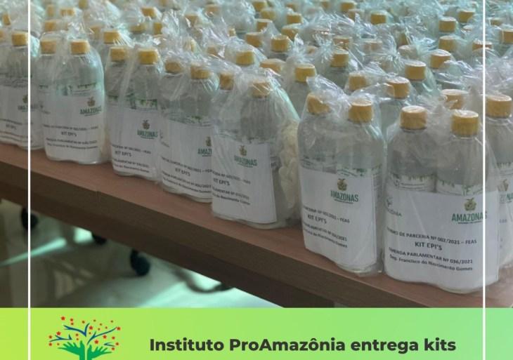 Instituto ProAmazônia entrega kits de EPI's em Novo Airão