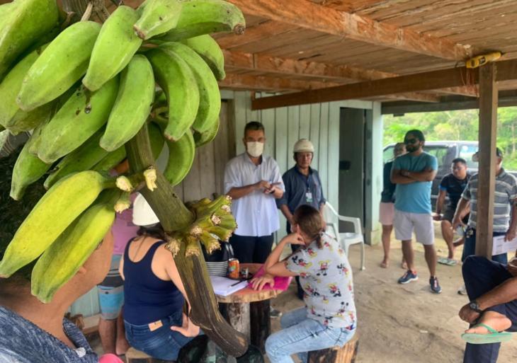 Ramal Rio Branquinho recebe visita do vereador Peixoto