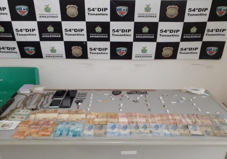 Em Tonantins, PC-AM prende trio em flagrante por tráfico de drogas e associação para o tráfico