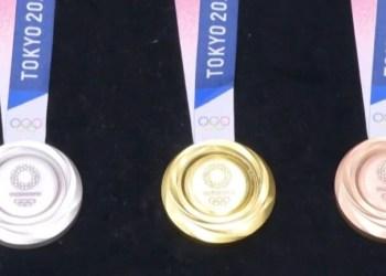 Medalhas olímpicas de Tóquio são feitas de celulares velhos
