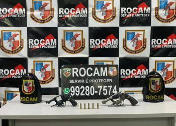 Rocam detém dois e apreende quatro armas de fogo em ações na capital e em Iranduba