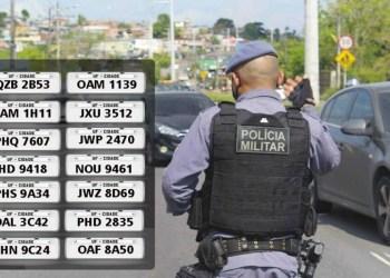 PM recupera 14 veículos com restrição de roubo, no último fim de semana