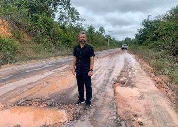 Vereador Peixoto destaca obras na AM 010 ao realizar visita na região metropolitana de Manaus