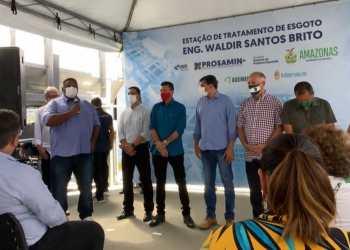 Vereador Ivo Neto participa de inauguração da Estação de Esgoto do Educandos
