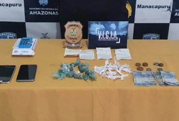 Em Manacapuru, PC-AM prende indivíduo em posse de substâncias entorpecentes
