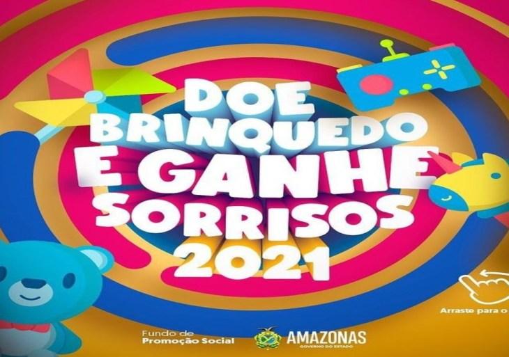 Governo do Amazonas realiza terceira edição da campanha 'Doe um Brinquedo e Ganhe Sorrisos'