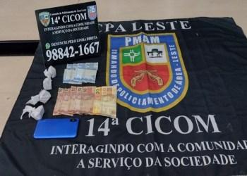 No bairro Tancredo Neves, PMAM detém jovem por tráfico de drogas