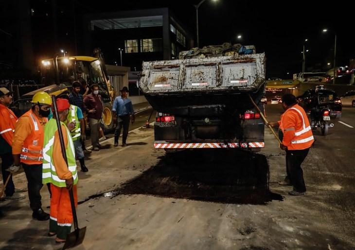 Prefeitura realiza obra emergencial na avenida Jornalista Umberto Calderaro Filho