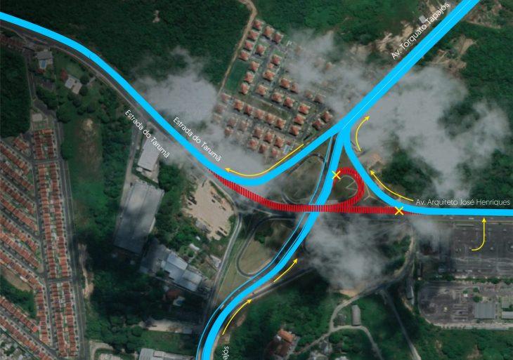 Seinfra interdita, parcialmente, pista superior do viaduto do Anel Sul, neste final de semana