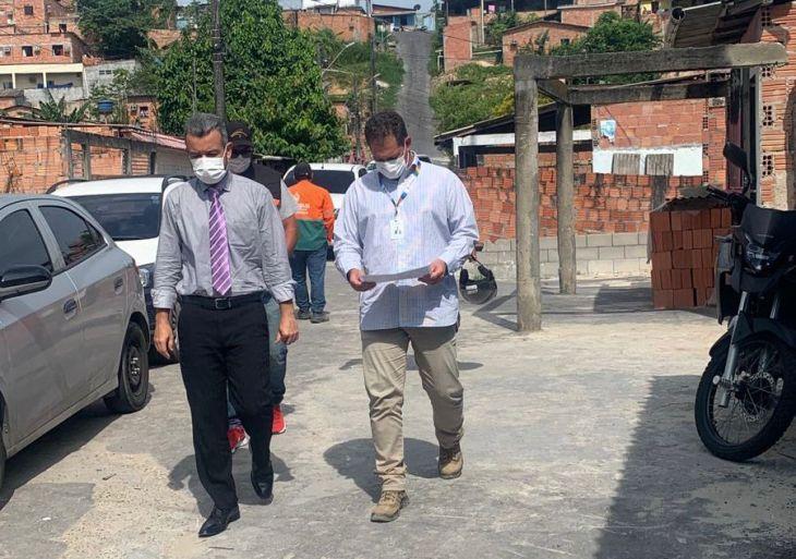 Peixoto retorna ao Braga Mendes com as equipes da UGPE-energia e da Seminf para solicitar infraestrutura e luz de LED na comunidade