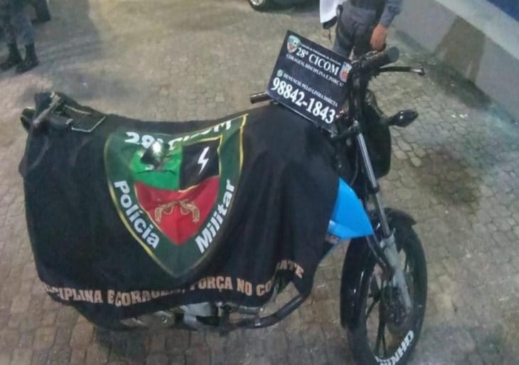 PMAM recupera motocicleta e celulares roubados durante operação Saturação na zona leste de Manaus