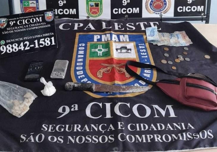 Polícia Militar detém indivíduo com drogas no bairro São José