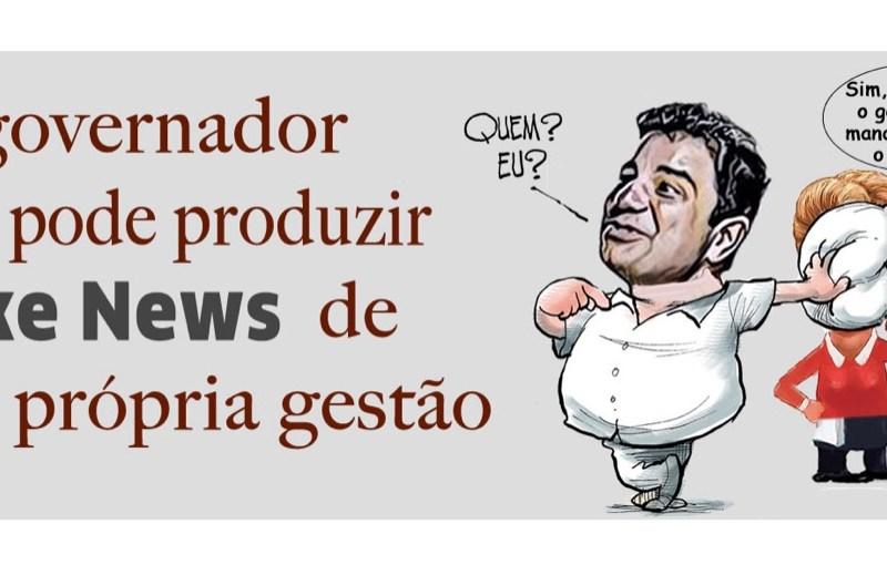 """Site cobra """"barrigada"""" de Cameli: """"Governador não pode produzir fake news de sua gestão"""""""