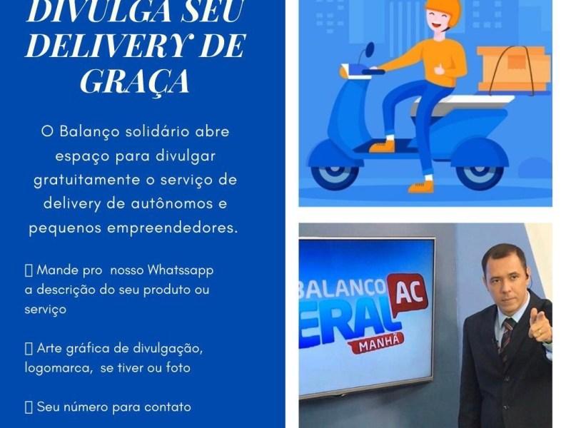 TV Gazeta divulga serviço de Delivery gratuitamente para autônomos e pequenos empreendedores