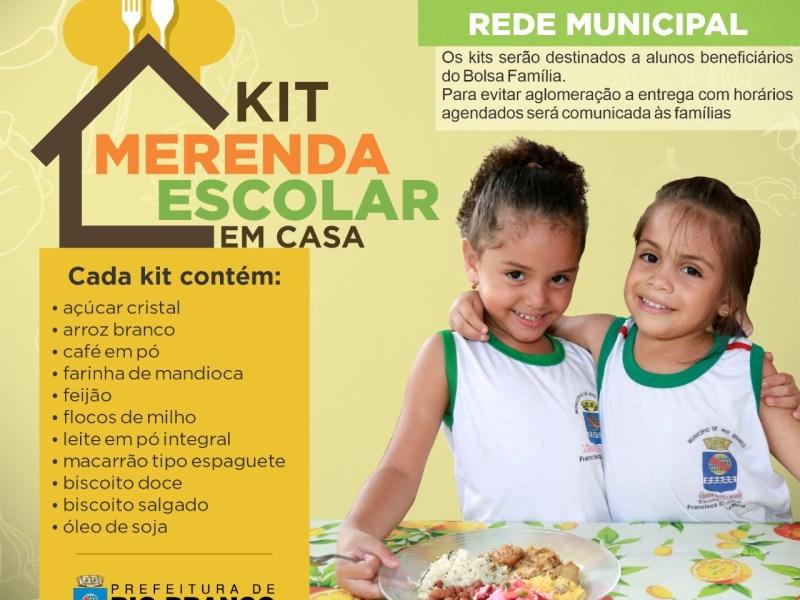 Socorro Neri assina decreto para a entrega de nove mil kits de merenda escolar