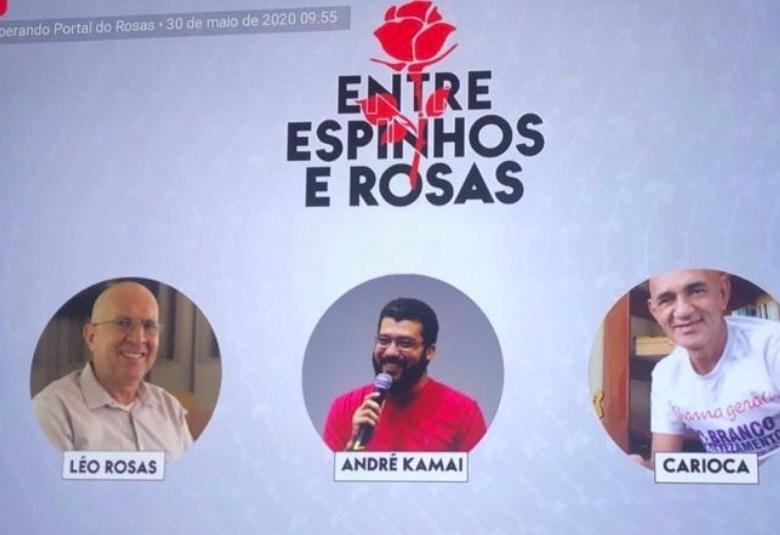 Canal do Portal do Rosas no YouTube estreia lives diária e semanal