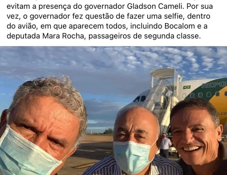 """Assessor de Gladson ironiza Bocalom: """"Daqui a pouco, o prefeito visita mais uma a capital do Acre"""", disse"""