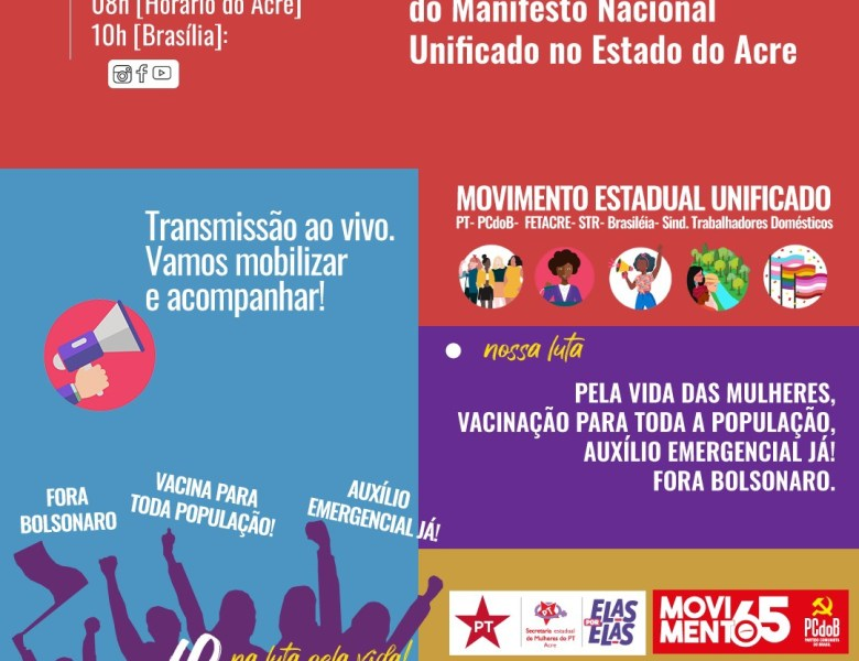 Manifesto Nacional e Estadual Unificado no Acre- 8M