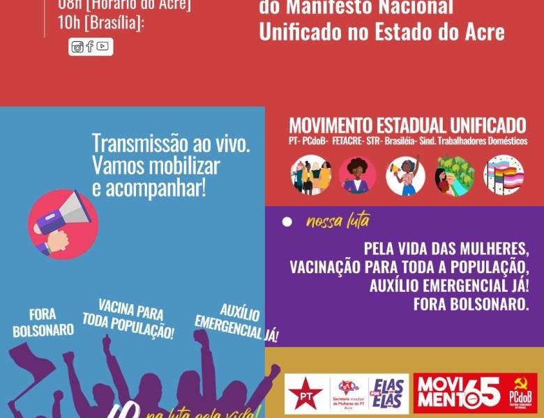 Manifesto Nacional e Estadual Unificado no Acre- 8M