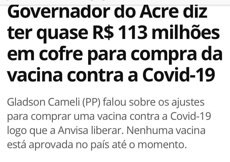 Até nas coisas mais simples, o governador falta com a verdade: cadê os R$ 113 milhões destinados à vacina?
