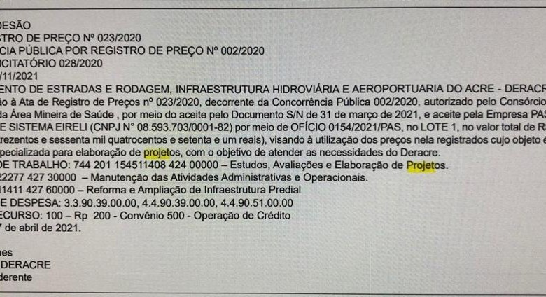Sem obras, governo faz nova adesão milionária com a empresa PAS para fazer projetos