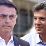 Jair Bolsonaro e Fernando Haddad disputarão o 2º turno das eleições.