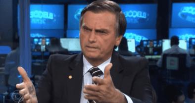 Bolsonaro em entrevista no Jornal Nacional da TV Globo.