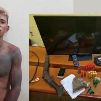Polícia prende um dos autores de um roubo seguido de incêndio na Comunidade do Rio Pardo