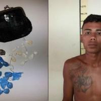 PM prende suspeito de tráfico de drogas no Bairro Sol Nascente em Presidente Figueiredo