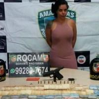 'Bibi' do Amazonas, mulher de 'Marcos Pará' da FDN, é presa em Manaus
