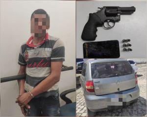 Homem é preso pela PM em Extremoz portando ilegalmente arma de fogo
