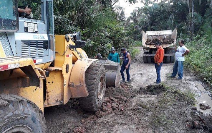 Prefeitura de Afonso Cunha realiza intervenções para minimizar problemas ocasionados pelas chuvas