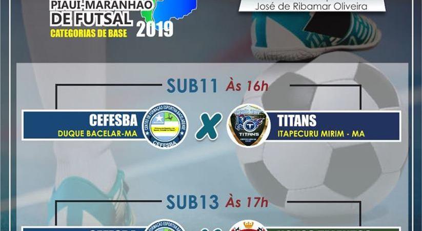 Duque Bacelar sediará final de Circuito de Futsal das Categorias de Base