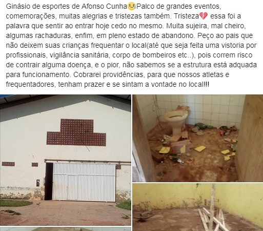 O Abandono do ginásio de Afonso Cunha e o pedaço da história que o vereador não contou…
