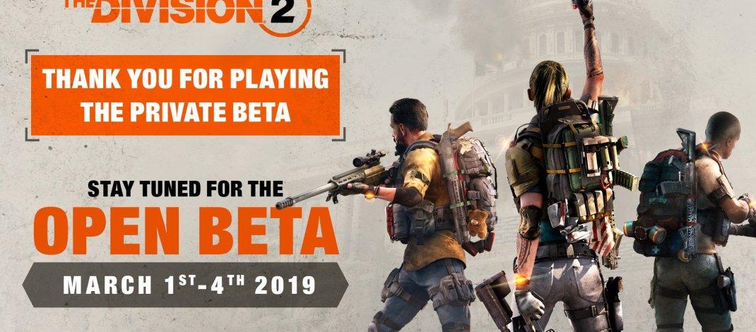 La Beta abierta de Tom Clancy´s The Division 2 comienza el 1 de marzo