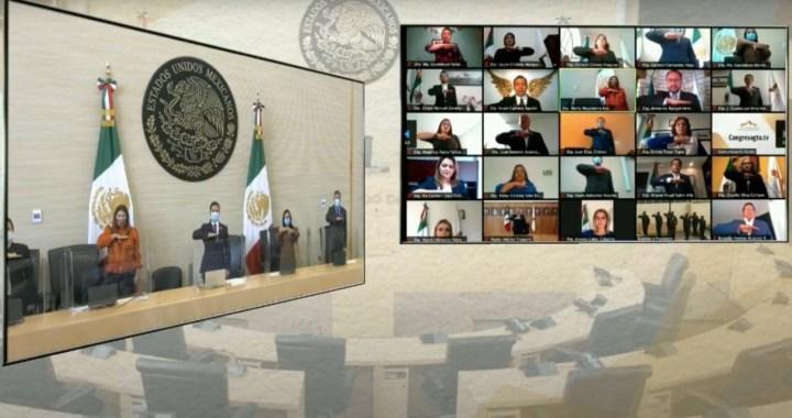 Inicia tercer periodo legislativo, se realiza instalación de manera virtual