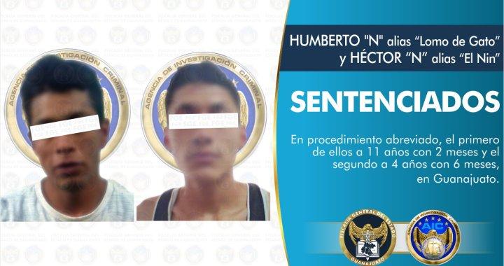 """""""Lomo de Gato"""" y """"El Nin"""", fueron condenados a prisión  por el delito de robo en la capital"""