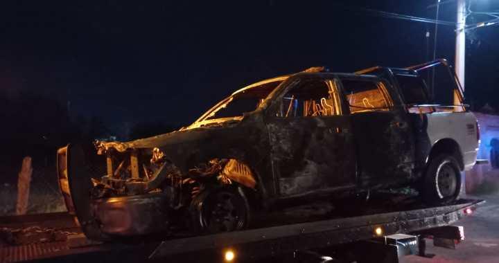 Se quema patrulla estatal por falla