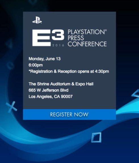Sony E3 Conferencia