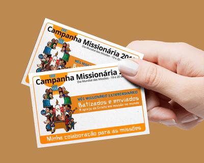 Envelopes para a coleta do Dia Mundial das Missões