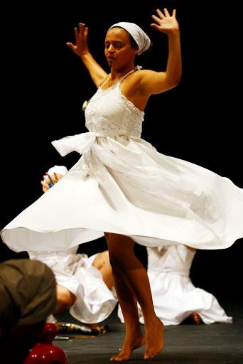 Laruama Alves antes da apresentação