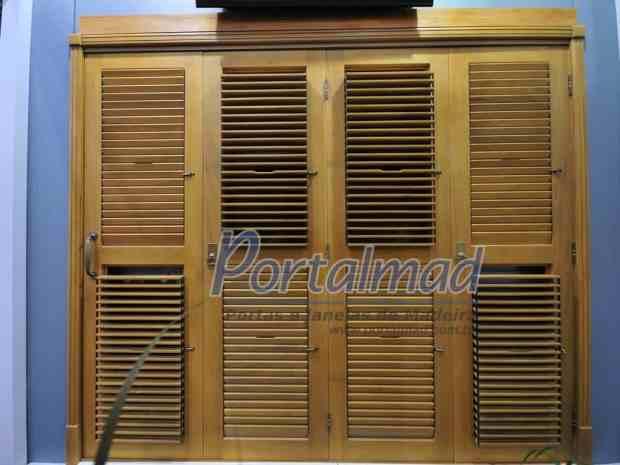 Porta madeira pantografica veneziana movel